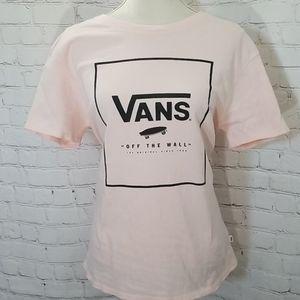 Vans Pink Logo Short Sleeve T-shirt